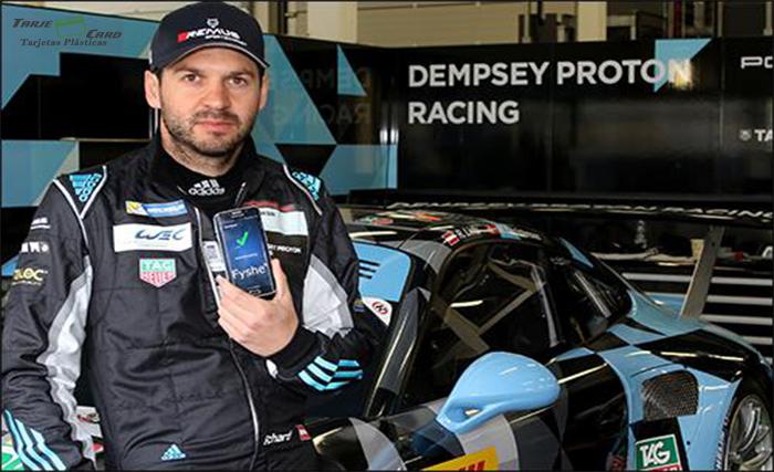 El NFC acelera la autenticación para pilotos de carreras de autos