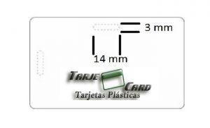 Tarjeta plástica troquelada